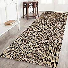 VINISATH Long Floor Mat Sexy Leopard Print
