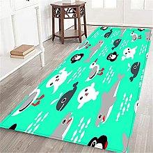 VINISATH Long Floor Mat shark whale penguin seal