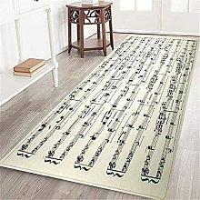 VINISATH Long Floor Mat Sheet of music Non-Slip