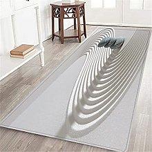 VINISATH Long Floor Mat Stone Zen Non-Slip Carpet