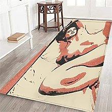 VINISATH Long Floor Mat Style Sexy Naked Girl