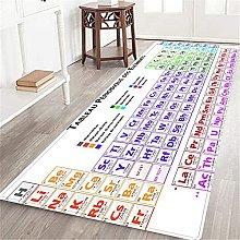 VINISATH Long Floor Mat Tableau periodique des