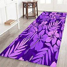 VINISATH Long Floor Mat Violet colors tropical