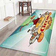 VINISATH Long Floor Runner Rug Magic traveling