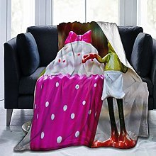 VINISATH Luxury Throw Blanket,Frog Chef Cake Funny