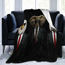 VINISATH Luxury Throw Blanket,Funny Animal Suit