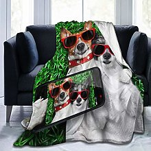 VINISATH Luxury Throw Blanket,Funny Animal Two
