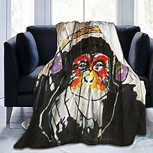 VINISATH Luxury Throw Blanket,Funny Animal Vintage