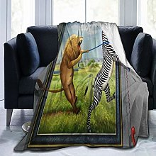 VINISATH Luxury Throw Blanket,Funny Animal Wild