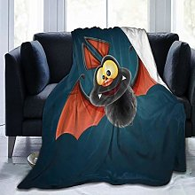VINISATH Luxury Throw Blanket,Funny Bat Halloween