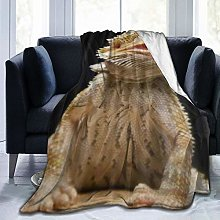 VINISATH Luxury Throw Blanket,Funny Bearded Dragon