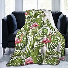 VINISATH Luxury Throw Blanket,Green Leaves
