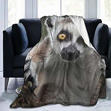 VINISATH Luxury Throw Blanket,Lemur Animal,Premium