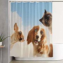 VINISATH Waterproof Polyester Shower Curtain,Three