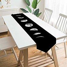VinMea Decorative Table Runner Placemat Cool Moon