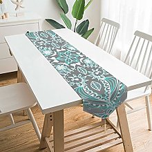 VinMea Decorative Table Runner Placemat Teal And