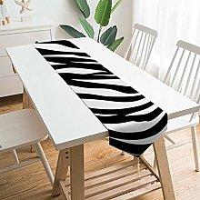 VinMea Decorative Table Runner Placemat Zebra Skin