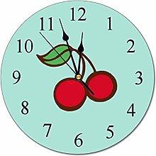VinMea Decorative Wall Clock Retro Diner Kitchen