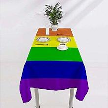 VinMea Square Cotton Tablecloth Gay Lesbian Pride