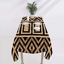 VinMea Square Cotton Tablecloth Kuba Cloth Pattern