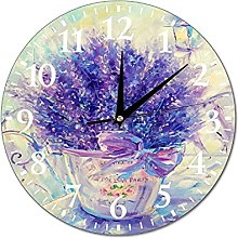VinMea Wall Clock From Provence With Love Hanging