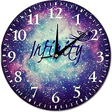 VinMea Wall Clock Galaxy With Quotes Hanging Clock