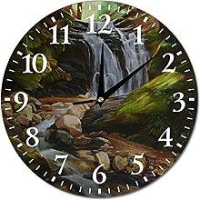 VinMea Wall Clock Landscape With Waterfall Hanging