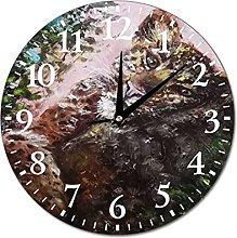 VinMea Wall Clock Leopard, For Children, Animal