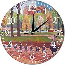 VinMea Wall Clock Make Way For Ducklings Hanging