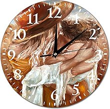VinMea Wall Clock Mother With Child, Picture In