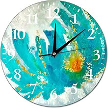 VinMea Wall Clock Painting For Interior Turquoise