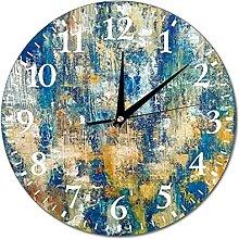 VinMea Wall Clock Painting For Light Interior Blue