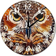 VinMea Wall Clock Painting Owl, Painting With Owl