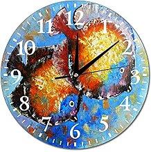 VinMea Wall Clock Painting With Fish Fish Oil