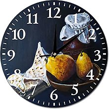 VinMea Wall Clock Painting With Pears Hanging