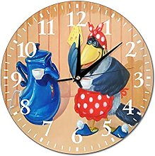 VinMea Wall Clock Picture With A Crow Come To Me