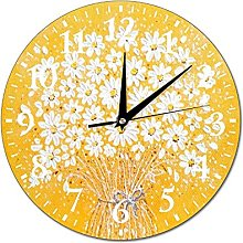 VinMea Wall Clock Picture With Chamomile Flowers,