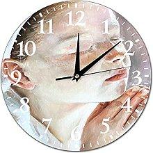 VinMea Wall Clock Prayer, Painting With A Girl,
