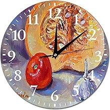 VinMea Wall Clock Pumpkin With Tomato And Garlic