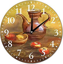 VinMea Wall Clock Still Life With Pitcher And
