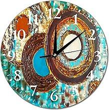 VinMea Wall Clock Textured Pattern For Interior