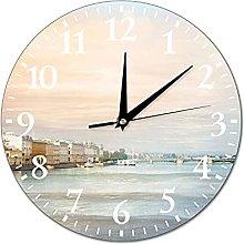 VinMea Wall Clock The Photo For An Interior Urban