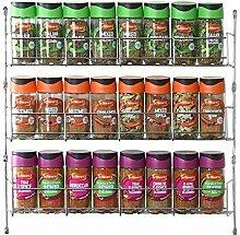 Vinsani 3 Tier Spice Herb Jar Rack Holder for