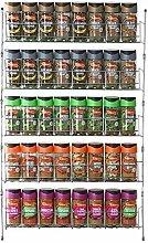 Vinsani 5 Tier Spice Herb Jar Rack Holder for