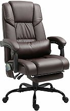 Vinsetto 6-Point PU Leather Massage Racing Chair