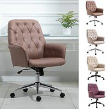 Vinsetto Computer Chair with Arms Modern Tufted