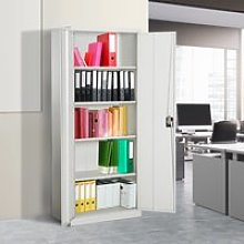 Vinsetto Cool Rolled Steel Tall Office Lockable
