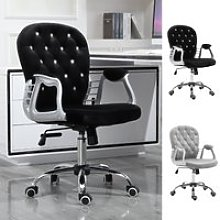 Vinsetto Diamante Tufted Velour Office Chair