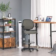 Vinsetto Ergonomic Drafting Chair Tall Office