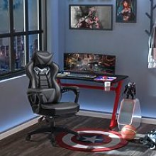 Vinsetto Ergonomic Racing Gaming Chair Office Desk